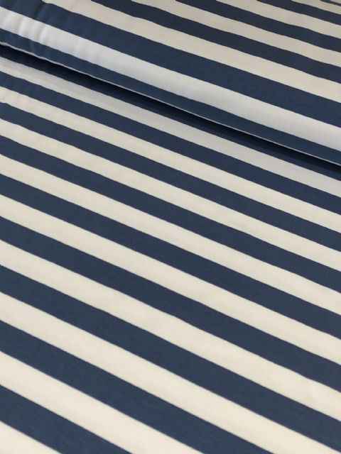 Denim and White Stripe - Fitzroy